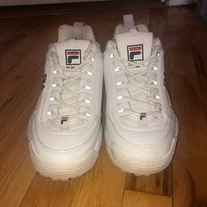 White Fila Disruptors (pre-owned)